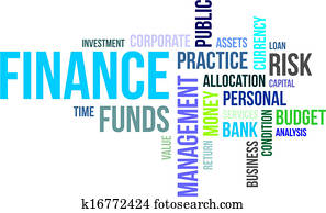 word cloud - finance