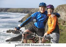Bike Love Cycle Bicycle Outdoors Couple Stock Photos And Images