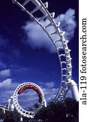 Corkscrew Roller-coaster Ride Goldcoast Australia